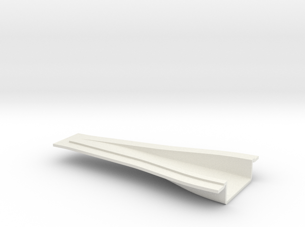 "NACA Intake Duct - 1/32"" panel, 75 x 25 x 8mm in White Strong & Flexible"