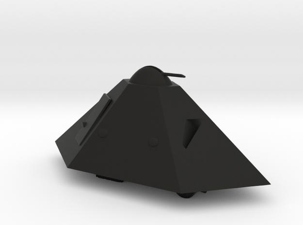 1/56 (28mm) Tortuga Tank/Armored Car in Black Natural Versatile Plastic