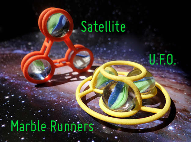 Marble Runner Satellite in Orange Processed Versatile Plastic