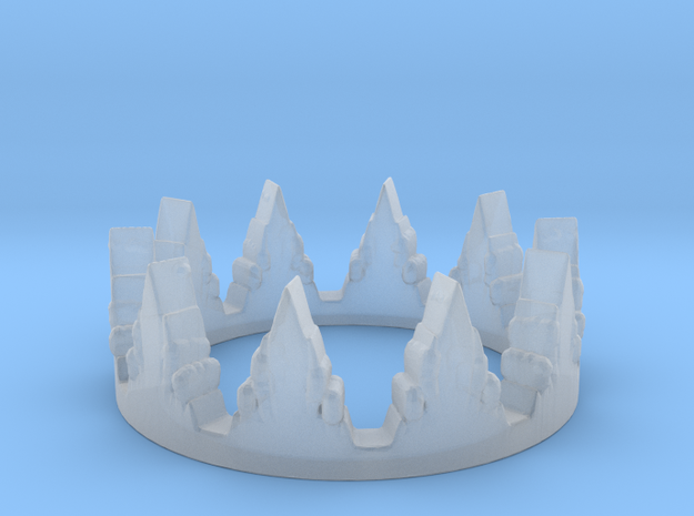 Crown Layer Ring (size 7) in Smooth Fine Detail Plastic