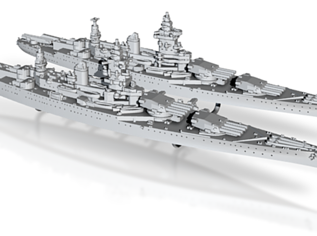 1/2400 MN BC Dunkerque[1940] + Strasbourg[1942] 3d printed