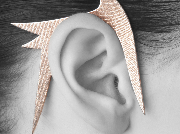 Kimberly Ovitz - Spicules Earhook  3d printed