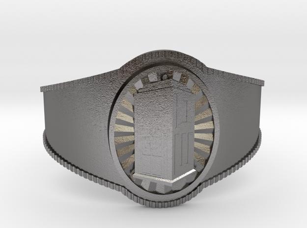 Dr. Who Bracelet in Polished Nickel Steel