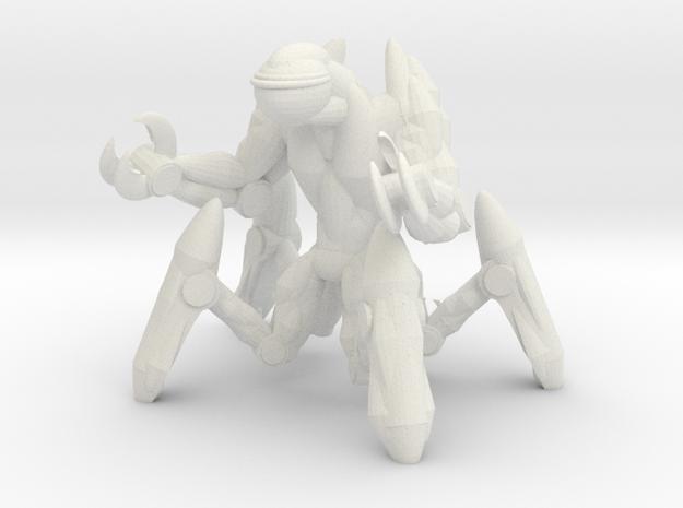 Creepy Mech in White Natural Versatile Plastic
