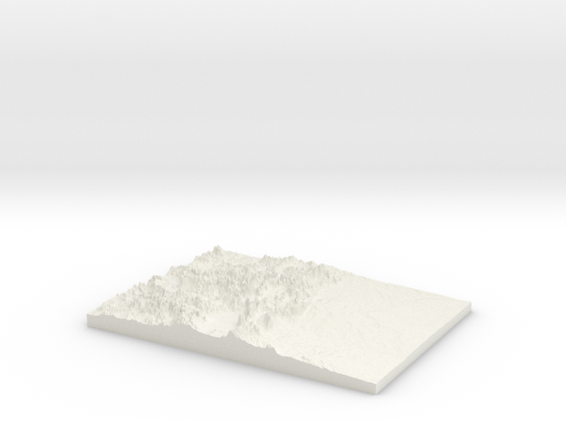 The State of Colorado: Topophile Model #0002 in White Strong & Flexible