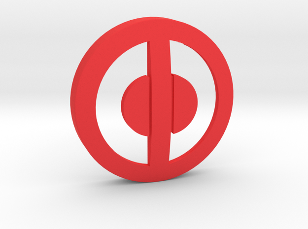 Deadpool-Belt Buckle Center- 80mm in Red Processed Versatile Plastic