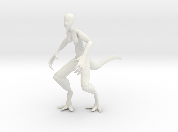 Lizy Pose 1  in White Natural Versatile Plastic