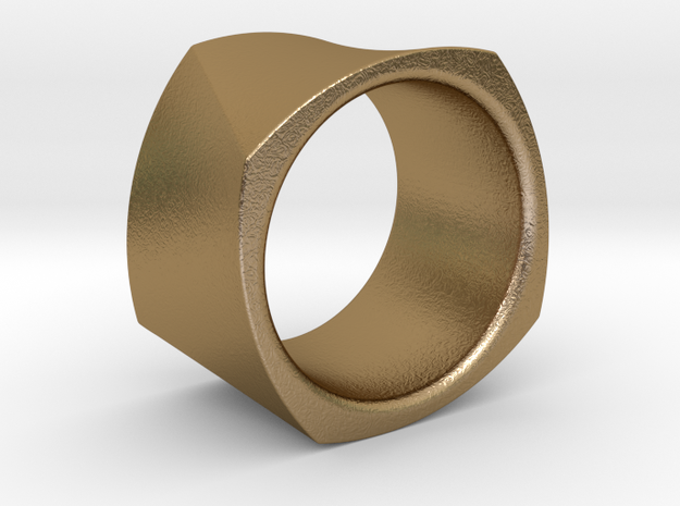 Motion Cube Ring Size 10/T in Polished Gold Steel