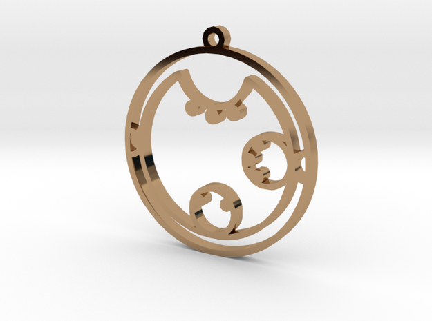 Clara / Klara - Necklace in Polished Brass