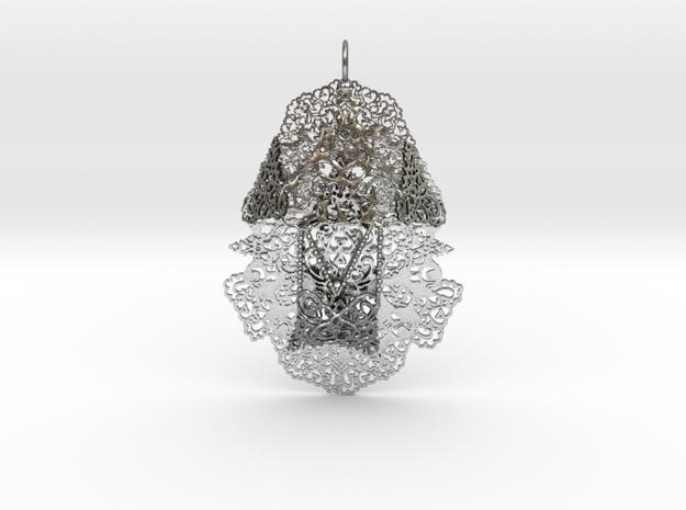 Yantra Pendant 2 in Natural Silver