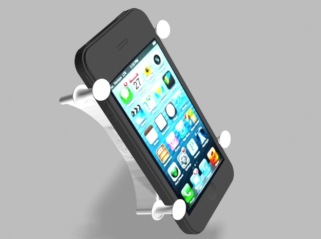 X Bracket Universal Smartphone Holder in White Natural Versatile Plastic