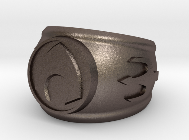 Aquaman Ring in Polished Bronzed Silver Steel