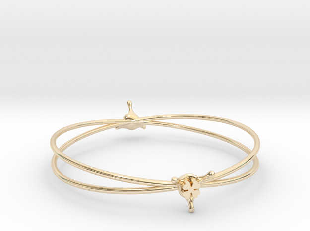 LuckySplash bracelet in 14k Gold Plated Brass