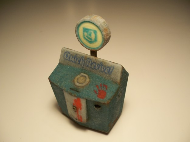Quick Revive - Nazi Zombies Miniature Perk in Full Color Sandstone