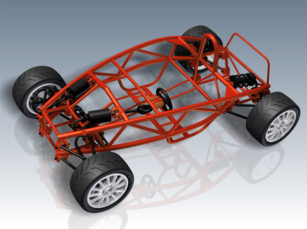 Ariel Atom 1/24th scale model w/tires in White Strong & Flexible