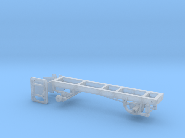 1/87th Single axle frame, suitable for KW CBE in Smooth Fine Detail Plastic