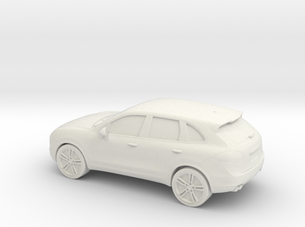 1/87 2011 Porsche Cayenne 958 in White Natural Versatile Plastic