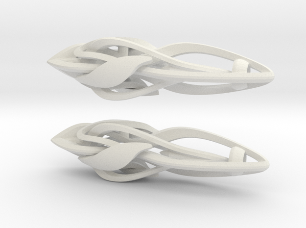 Afsoon's Earings in White Natural Versatile Plastic