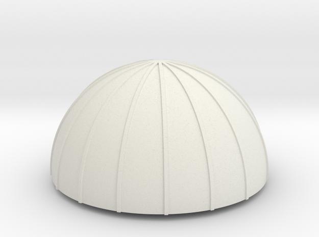 PVC Endcap - Silo 4 in White Strong & Flexible