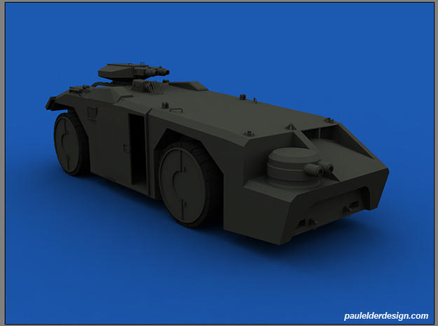 APC 1/72 Scale 3d printed Render of model, colour will vary due to material choice