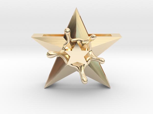 StarSplash in 14k Gold Plated Brass