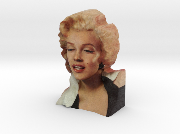 Marilyn Monroe Bust 9cm in Full Color Sandstone