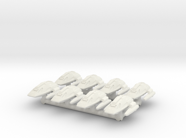 """1/1000 Scale Scampers """"Wave Riders"""" Pack in White Strong & Flexible"""