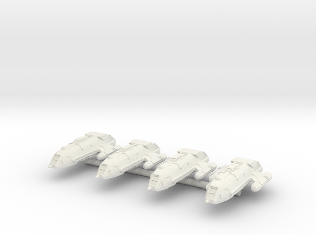 1/1000 Scale Walkabout Class Starships 3d printed