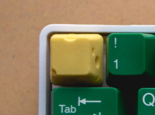 Topre Cheese Keycap in Yellow Processed Versatile Plastic