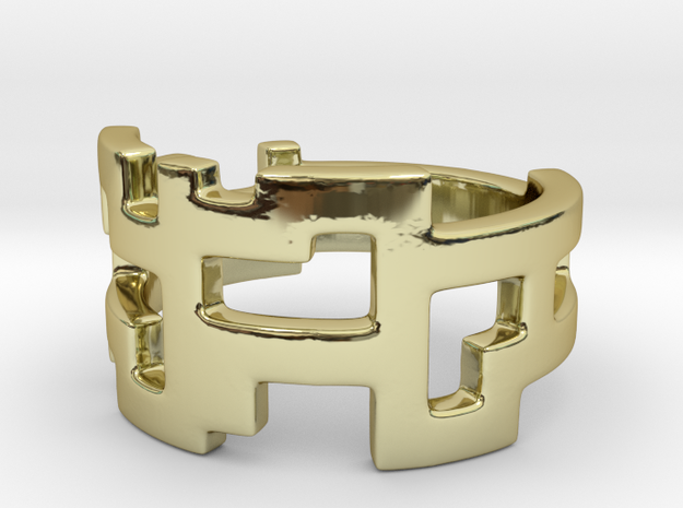 Ring Blocks - Size 4 in 18k Gold Plated Brass