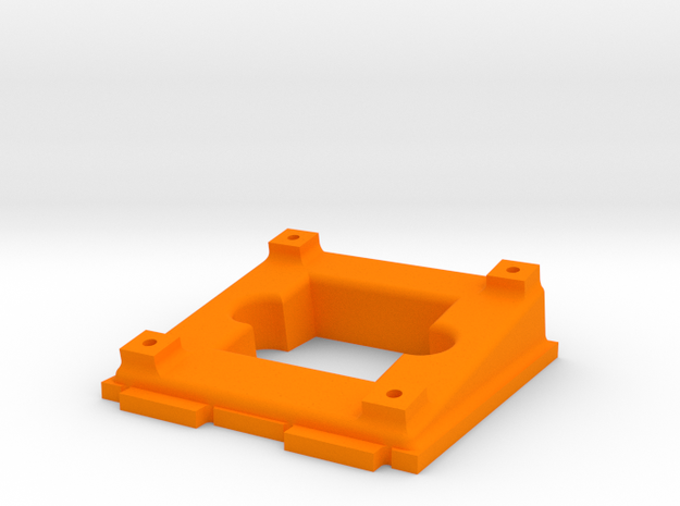 Tilted camera holder for ZMR250 in Orange Processed Versatile Plastic