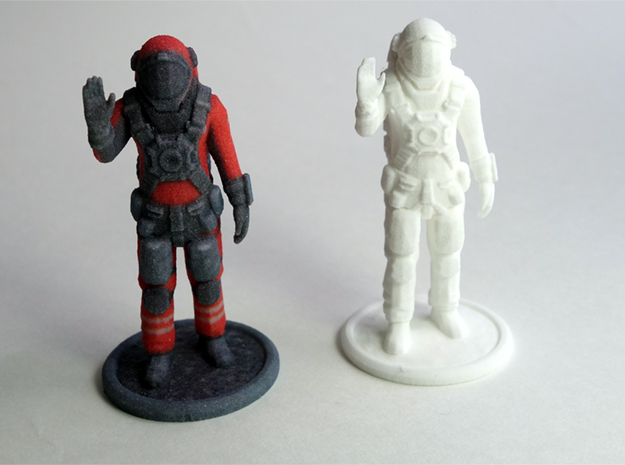Astronaut from Space Engineers game in White Natural Versatile Plastic