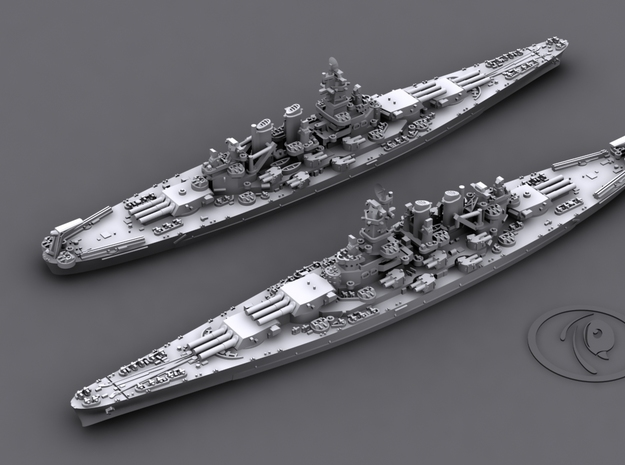 1/4800 US BB North Carolina [1944] (x2) in Frosted Ultra Detail