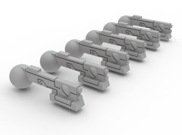 Troop Compartment SMG Set Of 6 in White Processed Versatile Plastic