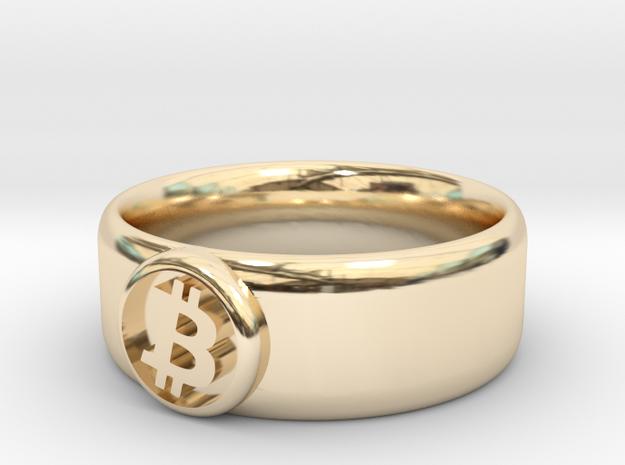 Bitcoin Ring (BTC) - Size 11.5 (U.S. 20.98mm dia) 3d printed