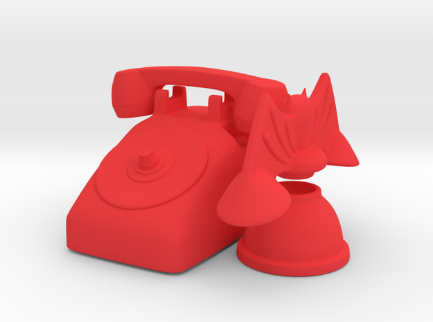 bat phone set in Red Strong & Flexible Polished