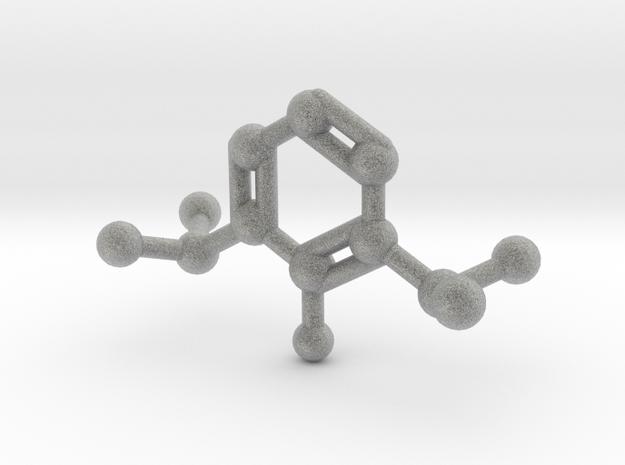 Propofol Molecule Keychain Necklace in Metallic Plastic