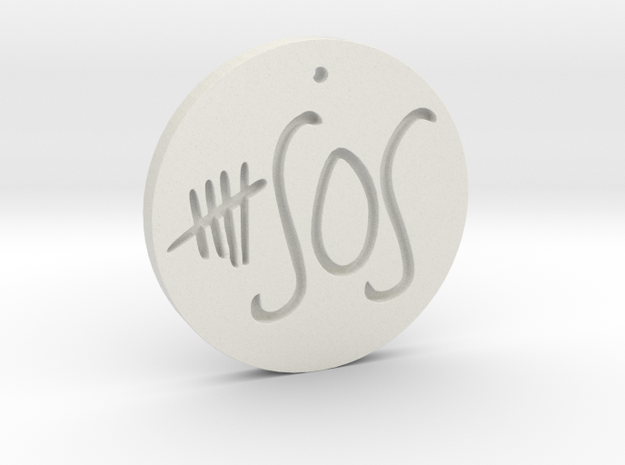 5 Seconds of Summer - Necklace - Charm Pendant in White Strong & Flexible