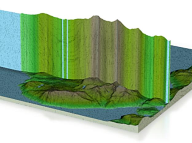 Terrafab generated model Mon Apr 13 2015 17:06:38  in Full Color Sandstone