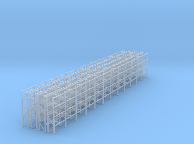 Pallet Racks 4 Rows in Smooth Fine Detail Plastic