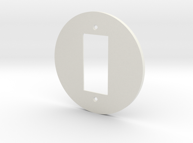 plodes® 1 Gang Decora Outlet Wall Plate in White Strong & Flexible