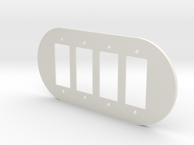 plodes® 4 Gang Duplex Outlet Wall Plate in White Strong & Flexible