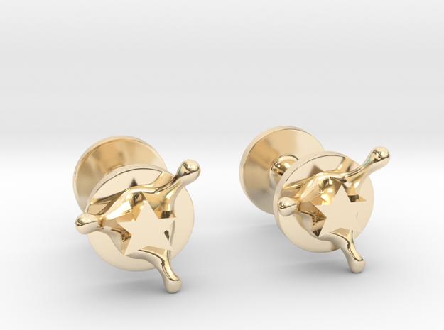 StarSplash cufflinks in 14k Gold Plated Brass