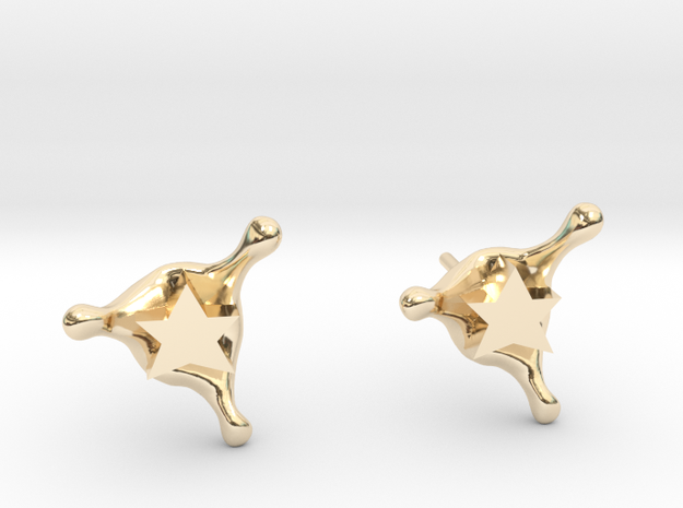 StarSplash stud earrings in 14k Gold Plated Brass