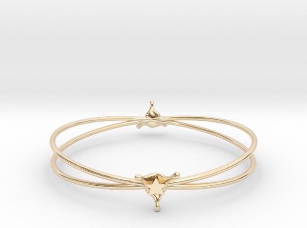 StarSplash bracelet in 14k Gold Plated Brass