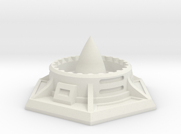 Missile Silo (38mm A/F) in White Natural Versatile Plastic