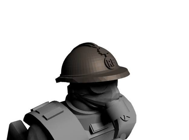 WW1 French Helmets for 28mm miniatures 3d printed