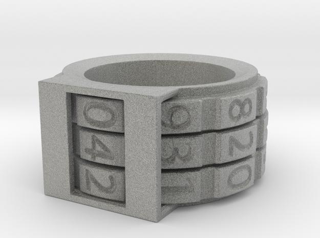 Combination Lock Ring in Metallic Plastic