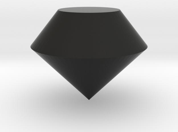 Round Diamond in Black Strong & Flexible