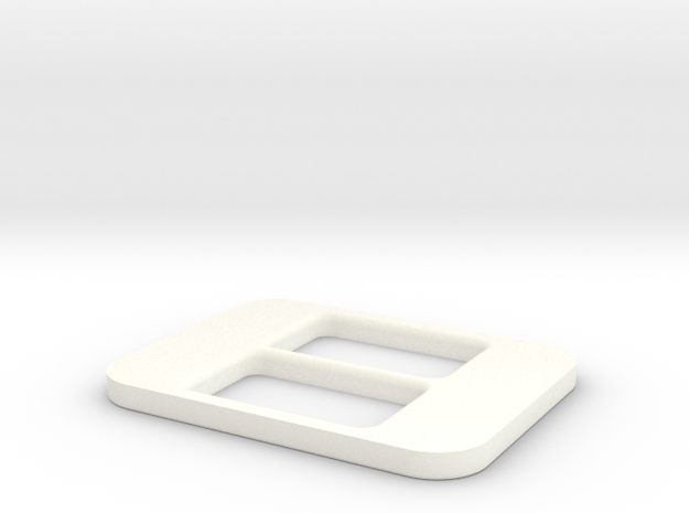 BRZ Limited Console Plate Blank in White Processed Versatile Plastic